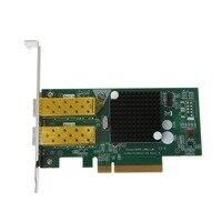 Pci Express FCoE Intel 82599 PCIe x8 10 Gigabit Ethernet Сетевая оптическая Lan Карта двойной SFP порт адаптер конвертер