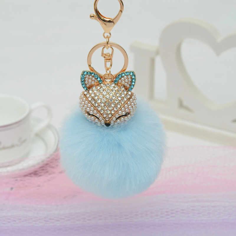 Очаровательный Кристал искусственная игрушка, лиса плюшевая брелок с изображением животных в форме сердца Единорог лисица ключ кулон удушающая игрушка животных Licorne ювелирные изделия