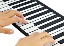 Children's kids Musical toys piano Practice Player 49 Keypad Portable Folding Soft kids early Beginner Instrument With Speaker