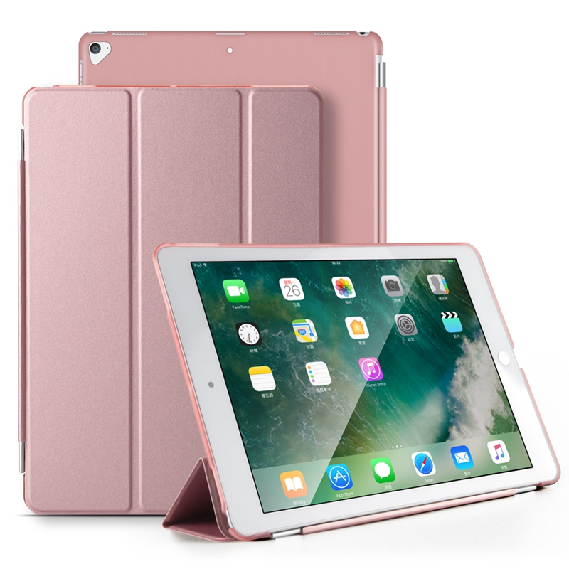 New Flip Case for iPad Pro 12.9 PU Leather Stand Tablet Smart Cover for iPad Pro 12.9 Slim PC Back Cover Auto Wake Sleep Coque
