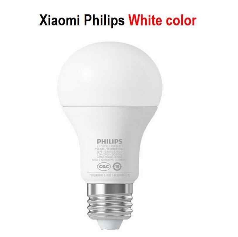 Xiao mi mi jia inteligentny biały LED E27 żarówka światło Mi-Light APP bezprzewodowy pilot zdalnego sterowania grupowego 3000 k-5700 k 6.5W 450lm Philips Smart LED kula świetlna