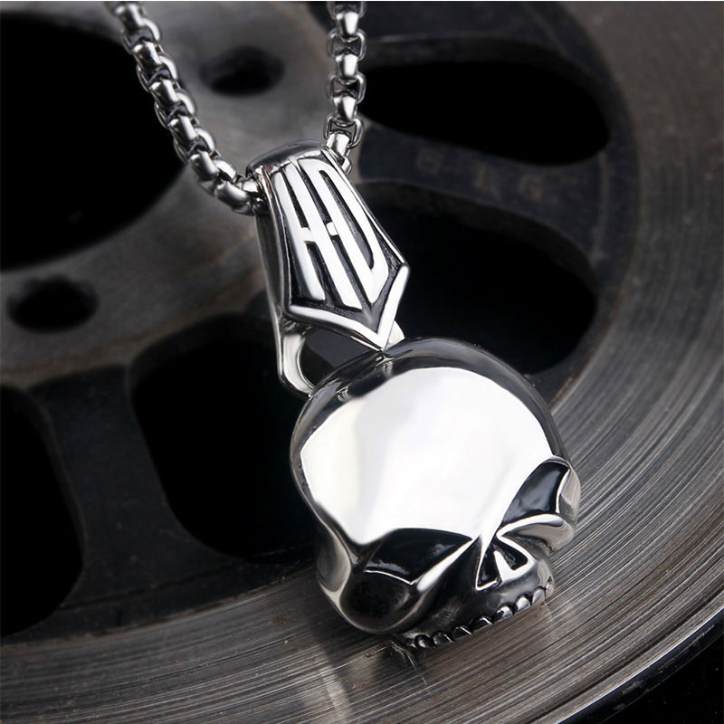 Stainless steel skull pendant for Stainless steel jewelry necklace