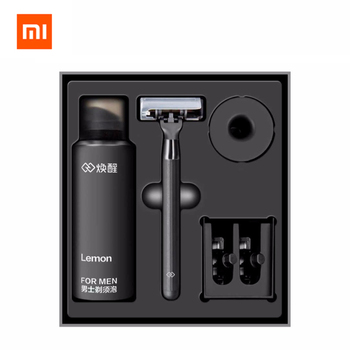 Xiaomi Huanxing 5-layer Blade Manual Razor Set Men Kit German importing Shaving head lemon Shaving bubbles 1