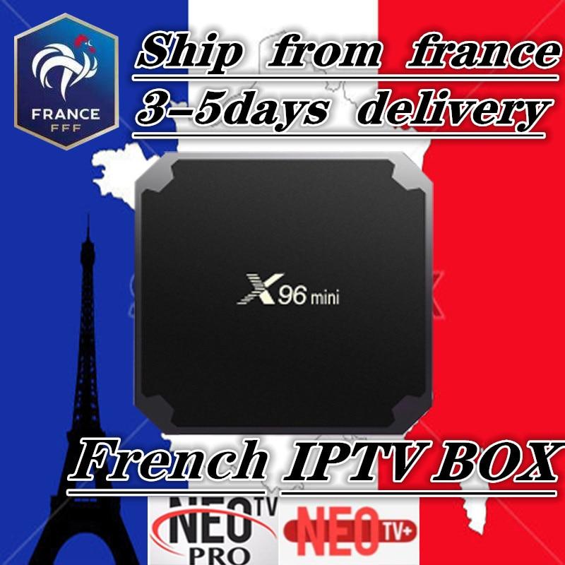 French IPTV X96 mini Android 7 1 Smart TV BOX 2G 16G 1G 8G 1200 NEOTV
