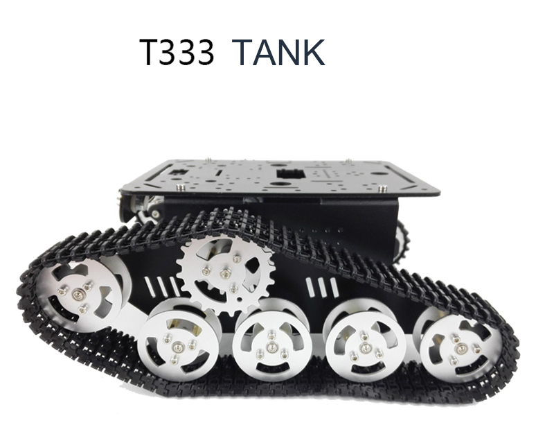 37 T333 tank car motor crawler intelligent car wall-e robot model dc motor driven plate stepper motor l298n intelligent robot