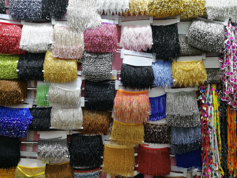 5.5 Yards 12 15cm Wide Lace Fringe Trim Tassel Fringe Trimming For DIY Latin Dress Stage Clothes Accessories Lace Ribbon - 2