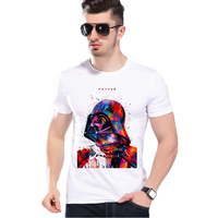 New Arrival Men Cool T shirt Star Wars Stormtrooper Design Print T-shirts Fashion O Neck White Casual T-shirts For Men L9H16