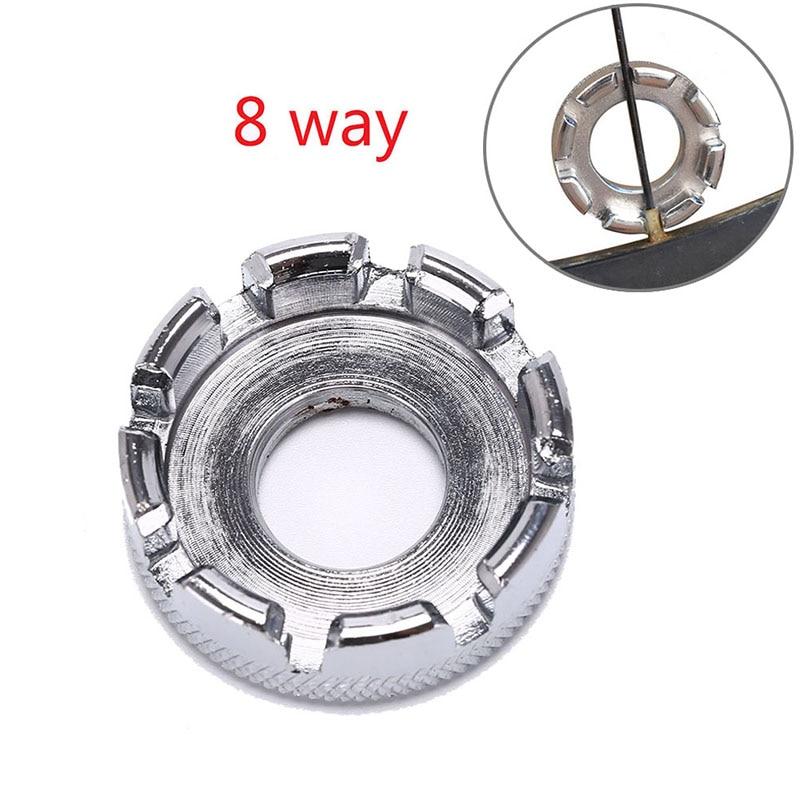 8 Way Bike Wheel Rim Nipple Spanner Spoke Wrench Steel Adjuster Repair Key Tool