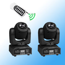 2Pcs/lot Remote Control DMX Stage Spot Moving Head 10 Channels LED Spot 30W Moving Head Gobo Effects DJ Disco Stage Lighting(China)