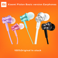 Newest Original Xiaomi Piston Basic Version Earphones 3 5mm Hearphones Flat Line Design Headset With Mic