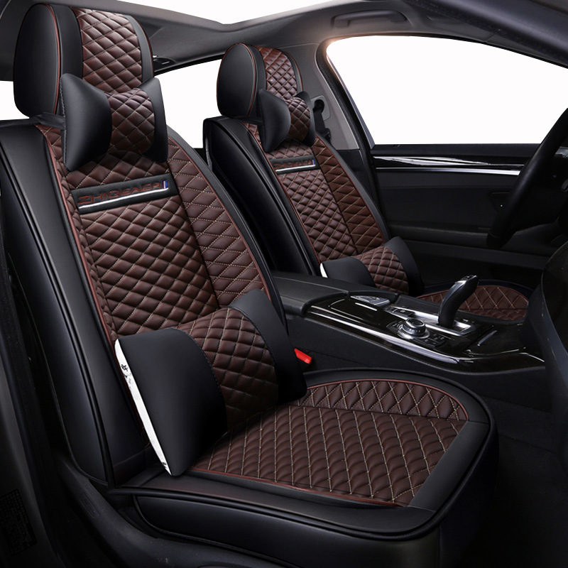 Высокое качество PU Кожаные чехлы сидений автомобиля fit ford focus 2 bmw e60 chevrolet Cruze vw ГОЛЬФ mk2 passat cc kia sportage chrysler