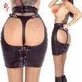 Горячая кожа взрослые игры секс-рабства порка юбка женщины черный искушение сексуальные игрушки комбинезон порно секс продукт для женщин
