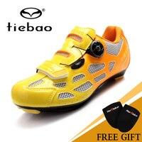 2017 YENI Tiebao Profesyonel Yol Ayakkabı Döner Vidalı Çelik Tel Hızlı Bisiklet Ayakkabı yol bisikleti ayakkabıları TB16-B1259