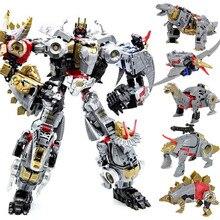 Transformation Robot Toy Dinobot Combiner Dinosaur Dinozords Assembled Deformation Megazord PVC Figures Children Gifts