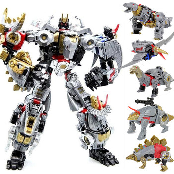 Transformation Robot Toy Dinobot Combiner Dinosaur Dinozords Assembled Deformation Megazord PVC Figures Children Gifts image