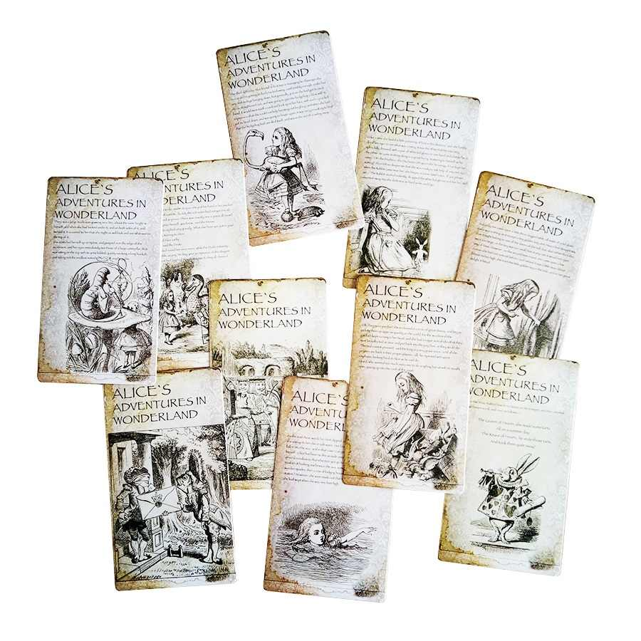 20 Pcs/lot New Vintage Style Alice's Adventure in Wonderland Post Card Set Greeting Card Story Gift Greeting Card