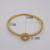 Design clássico 18 K platina Banhado A Ouro Dois Círculos Cruz Com Cristais de Rocha Pavimentada Pulseiras & Pulseiras Para Presente Jóias Mulheres