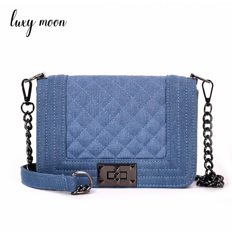 2018 designer jeans flap bags denim chain crossbody bags for women handbags shoulder bags messenger female shoulder bag zd915
