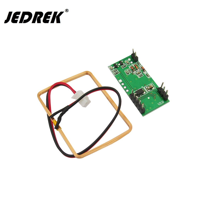 RDM6300 125Khz RFID Module EM Card Reader UART Interface for arduino drf4463d20 043a2 433mhz 5v 100mw si4463 uart wireless data transmitting module for arduino