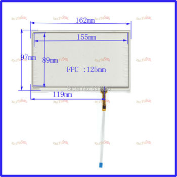 ZhiYuSun NEW 7 inch navigation 163mm*97mmGPS MP4 MP5 This compatible FPC-0373 general resistance handwritten touch screen panel