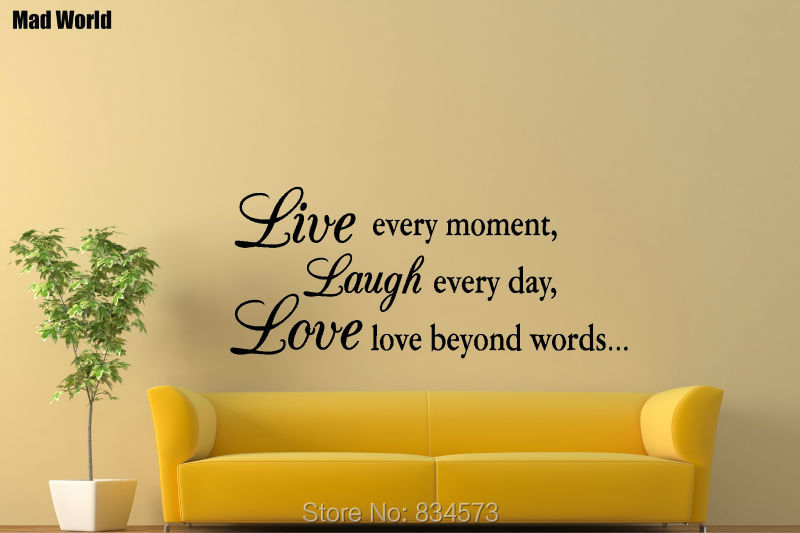 LIVE LAUGH LOVE Inspirational Family Friends Wall Art Stickers Wall ...