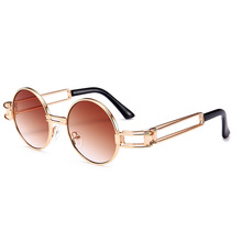 MOLNIYA New Small Round Sunglasses Men Retro Red Yellow 2018 Gold Frame Steampunk Round Metal Sun Glasses for women unisex