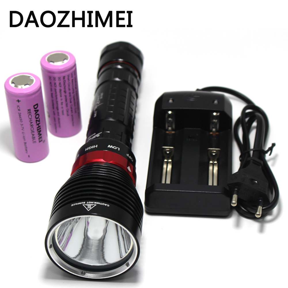 10W 3-Mode XM- L2 LED Diving Flashlight Torch 3800 Lumen100M Underwater Waterproof LED Flash Light Lamp Lantern by 26650 Battery 10w 1200lm xm l2 led diving flashlight waterproof torch lamp free shipping