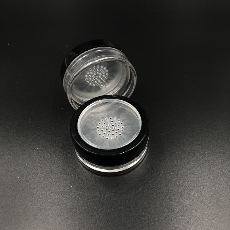 600pcs 10g portable loose powder jar with rotating sifter with twist up sifter powder container tins