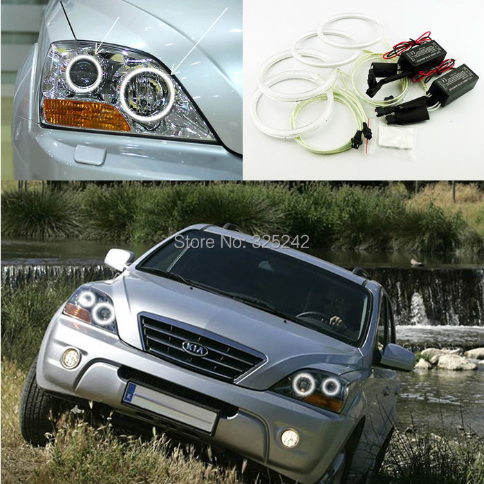For Kia Sorento 2007 2008 2009 Excellent angel eyes kit Ultra bright headlight illumination CCFL Angel