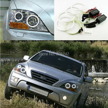 Para Kia Sorento 2007 2008 2009 Excelente angel eyes kit Ultra brillante del faro iluminación CCFL Angel Eyes kit de Halo Anillo