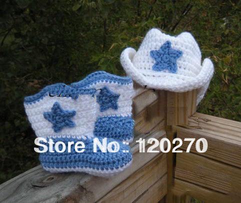 Free Shipping Childrens Knitted Snow Boots Crochet Baby Shoes