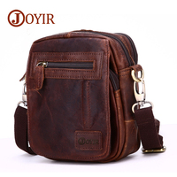 JOYIR Vintage Genuine Crazy Horse Leather Belt Men's Waist Bag Casual Leg Fanny Pack Shoulder Bag Small Tool Kits Organize Bags
