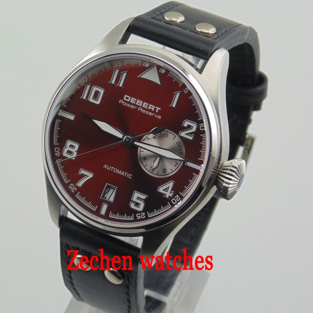 Debert 42mm Coffee with Dial Sapphire Automatic Mechanical Luminous Mens Watch