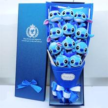 Cute Stitch stuffed catoon bouquet gift box Plush Toy Lovely Dolled Best Gift for Children mainan Hadiah Krismas Valentine