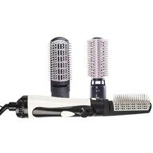 Rizador eléctrico de pelo profesional, cepillo rizador de pelo giratorio 2 en 1, herramientas de estilismo