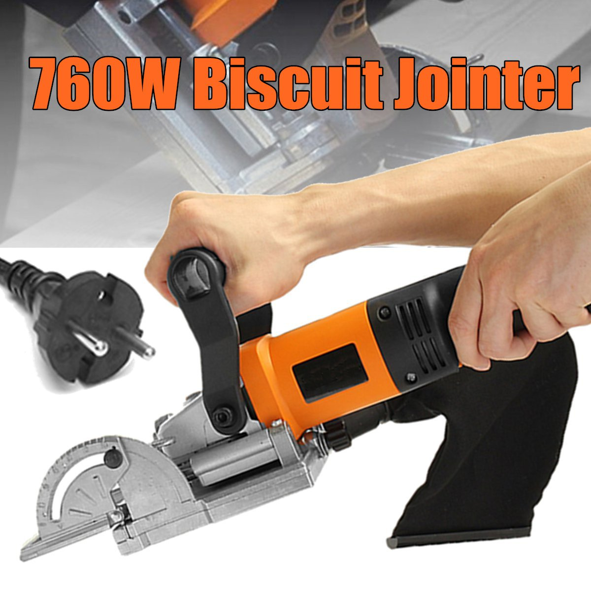 760W Biscuit Jointer Wood Working Tenoning Machine Biscuit Machine Puzzle Machine Groover