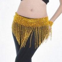 Belly Dance Accessories Beads Waist Belt Chain Hip Scarf Gold Silver Plated Pearl Tassels Women S