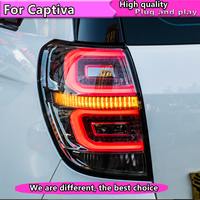 Car Styling Assembly For Chevrolet Captiva 2008 2016 taillights LED Tail Lamp rear trunk lamp cover drl+signal+brake+reverse