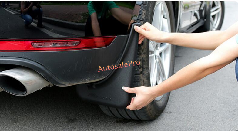 front rear Mud Splash Flaps Fenders Dirt Guards Mudguards 4pcs for Porsche Macan 2014 2015 2016  цены