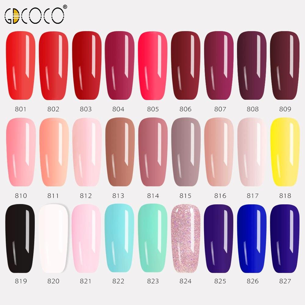 GDCOCO Gel Polish 8ML 50 Colors UV Gel Manicure DIY Nail Art Venalisa Gel Lacquer Design Varnish Soak Off LED UV Nail Gel Polish 2