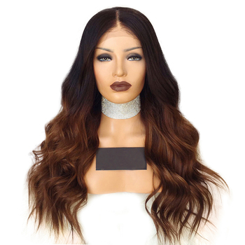 1b/30 Ombre Lace Front Human Hair Wigs With Baby Hair Pre Plucked Body Wave Brazilian Remy Hair Wigs For Black Women Aimoonsa