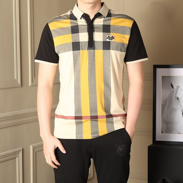 Новый Solid Color Polo Shirt 2016 Мужская Марка Slim Fit плед Polo Рубашки Повседневные С Коротким Рукавом Хлопок Поло Polo Homme марка