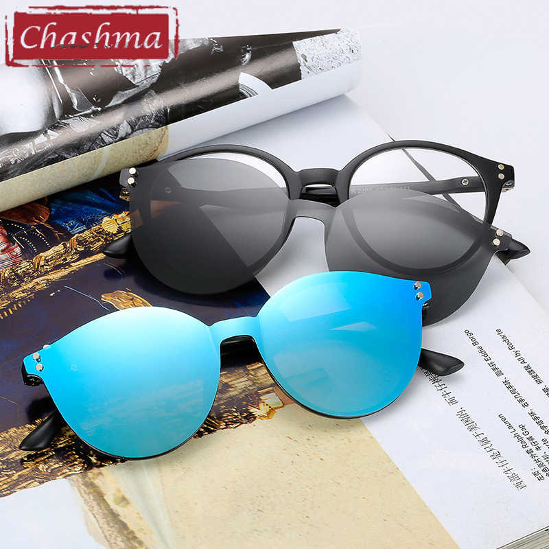 cc4cfe48ac Chashma Brand TR90 Flexible Retro Eyewear Women Clips Polarized Lenses  Magnet Men Mirror Sunglasses Optical Glasses