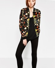 ZA omen bomber jacket 2016 female coat flight suit casual jacket women coat patch women jacket coatE251