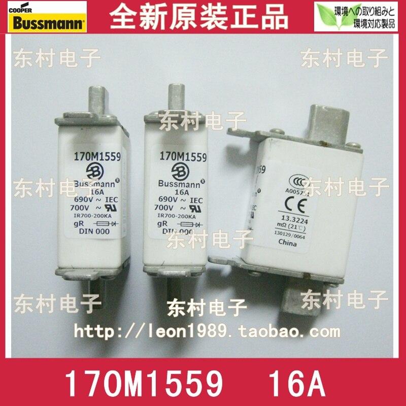 [SA]US COOPER BUSSMANN Fuses 170M1559 170M1559D 16A 690V fuse--3PCS/LOT [sa]us imports cooper bussmann fuses 170m2620 160a 690v fuse