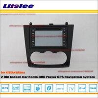 Liislee For Nissan Altima 2007~2012 Radio CD DVD Player GPS Nav Navi Map Navigation System Double Din Car Audio Installation Set