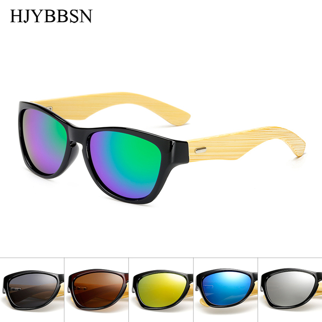 165e194ddd Original Wooden Bamboo Sunglasses Men Women Mirrored UV400 Sun Glasses Real Wood  Shades Gold Blue Outdoor