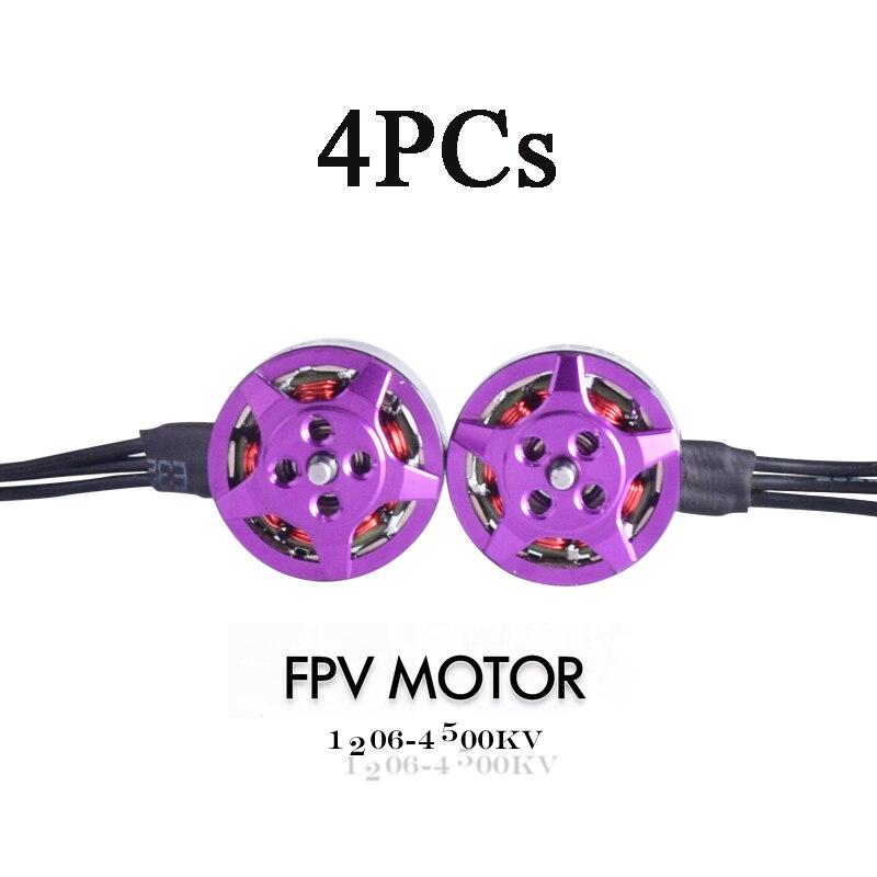 Oyuncaklar ve Hobi Ürünleri'ten Parçalar ve Aksesuarlar'de 4 adet Yeni FPV Motorlar 1206 Motor 4500kv Motorlar fırçasız Motor Yarış Motor Için Mini FPV Multicopter Mikro Drone DIY Aksesuarları'da  Grup 1