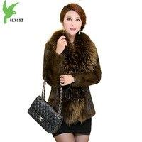 Изысканные женские зимние куртки с кроличьим мехом, пальто с воротником из меха енота, верхняя одежда больших размеров, женские топы, толсты