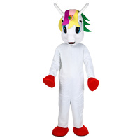 Little Unicorn pony mascot costume Flying Horse Mascot Costume Rainbow pony fancy dress costume for adult Halloween party